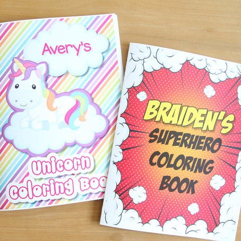 Personalized Coloring Books (8.5 x 11)
