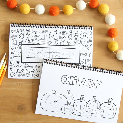 Personalized Halloween Color Books