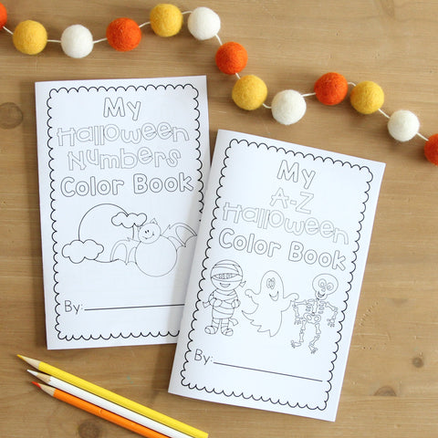 Mini Halloween Color Books