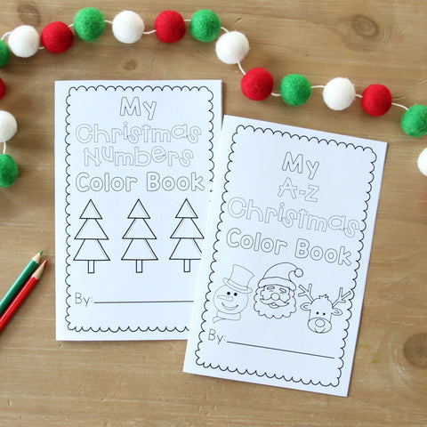 Mini Christmas Color Books