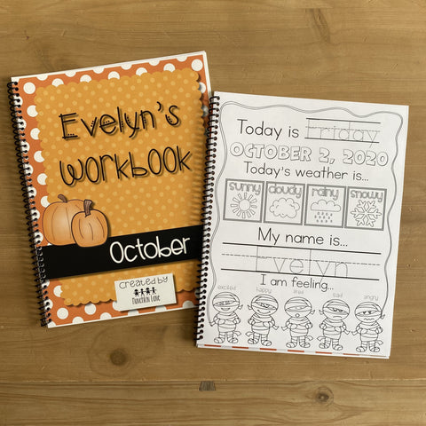 Personalized October Workbook