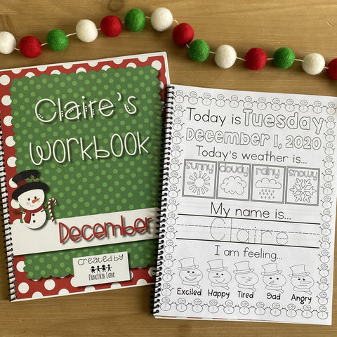 Personalized December Workbook