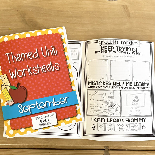 Themed Unit Worksheets