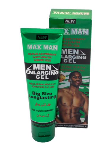 max man enlarging gel, enlargement gel, penis enlargement
