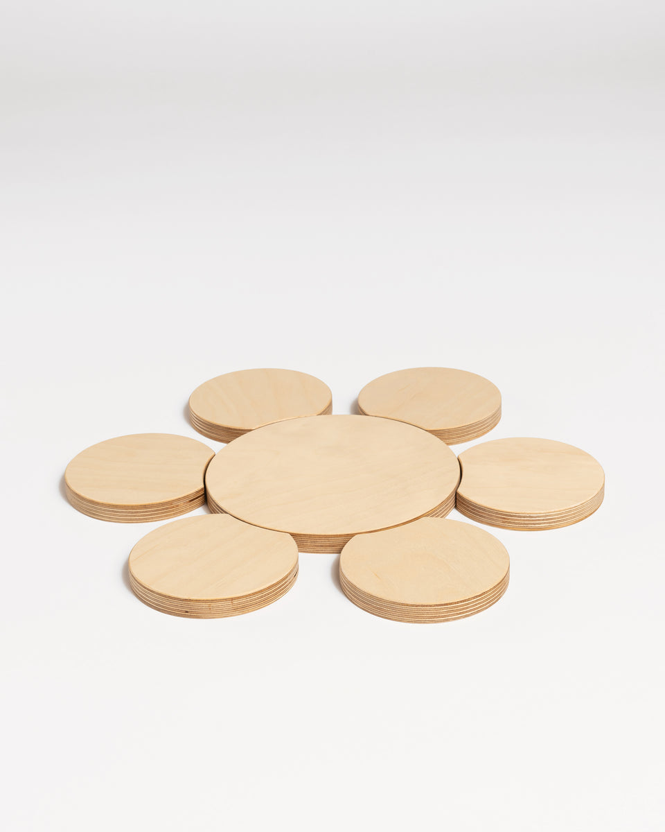 ZERO #3 | Daisy coasters set - large