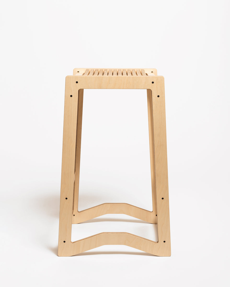 HEX #1 | High stool 73 cm - side view