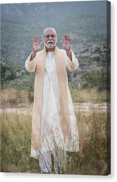 Sri Bhagavan Blessing - Canvas Print