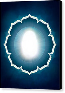 The Great Compassionate Light W/ Petals - Canvas Print