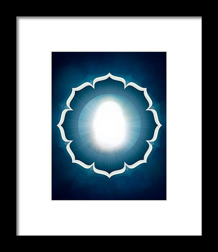 The Great Compassionate Light W/ Petals - Framed Print