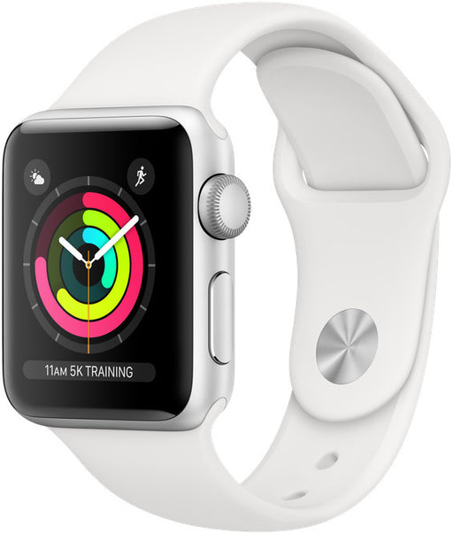 Apple Watch Series 3 38mm GPS Silver Aluminium White Sport Band