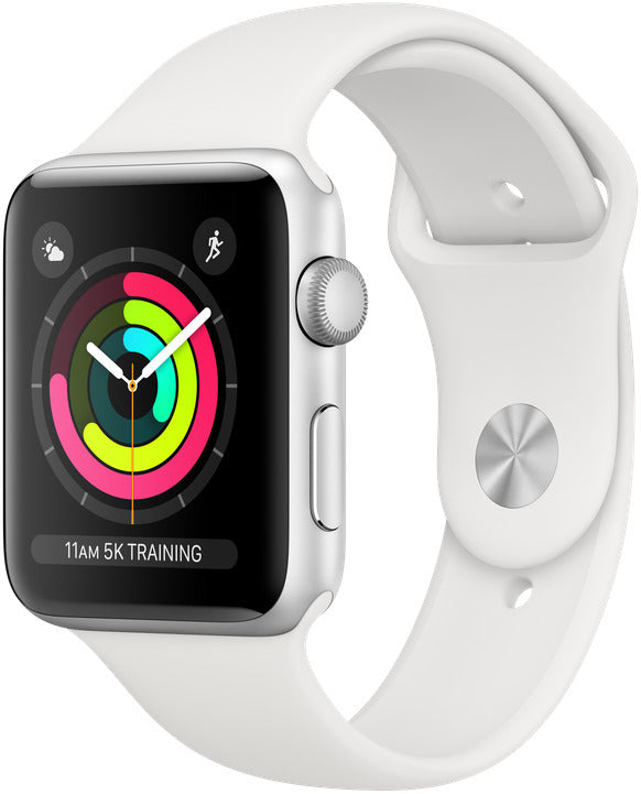 Apple Watch Series 3 42mm GPS Silver Aluminium White Sport Band