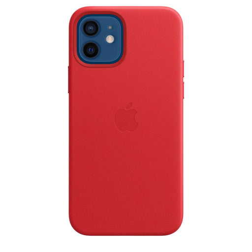 iPhone 12/12 Pron nahkakuori MagSafella, (PRODUCT)RED