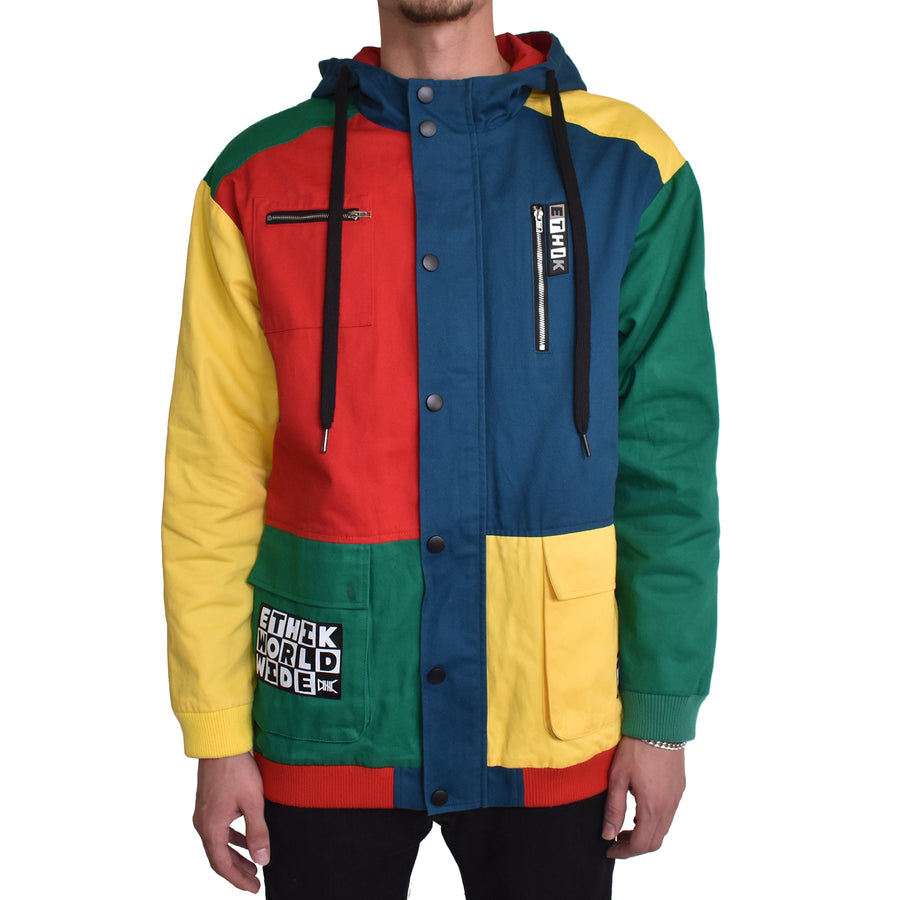 Colorblock Jacket, Retro