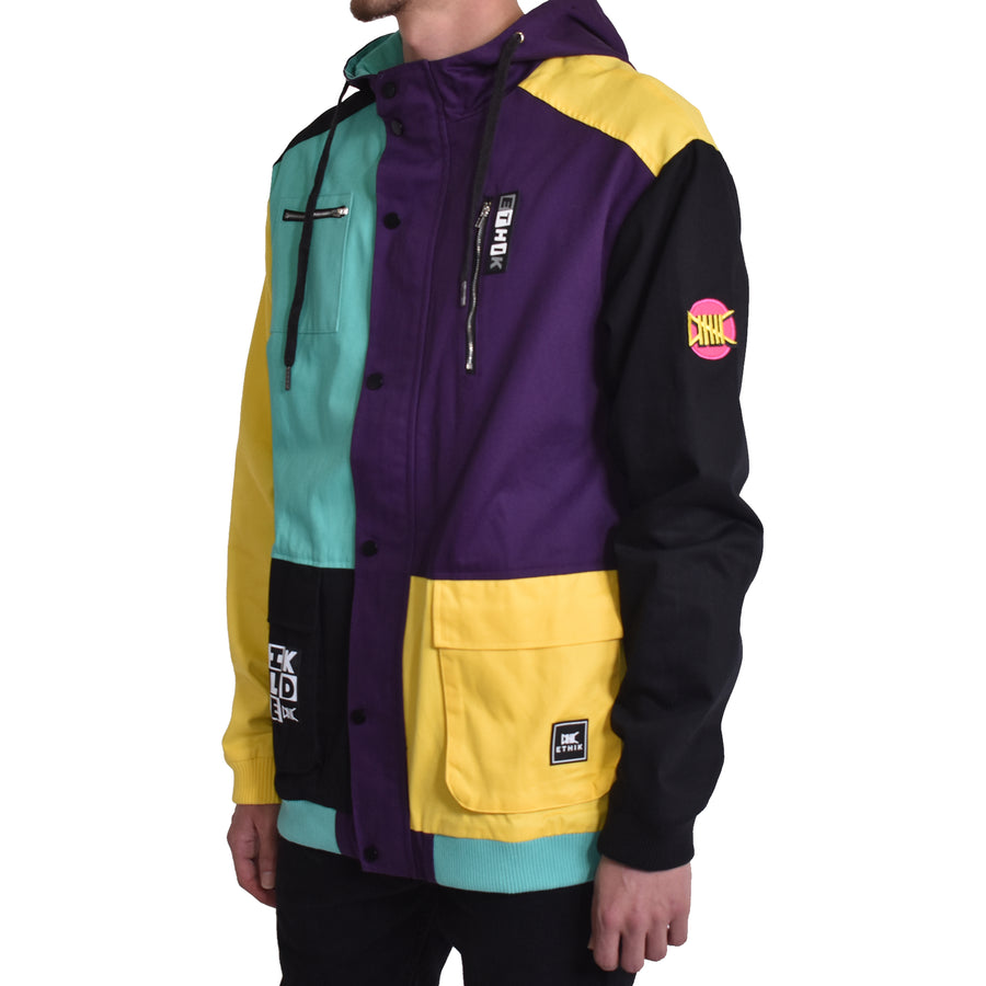 Colorblock Jacket, Abstract