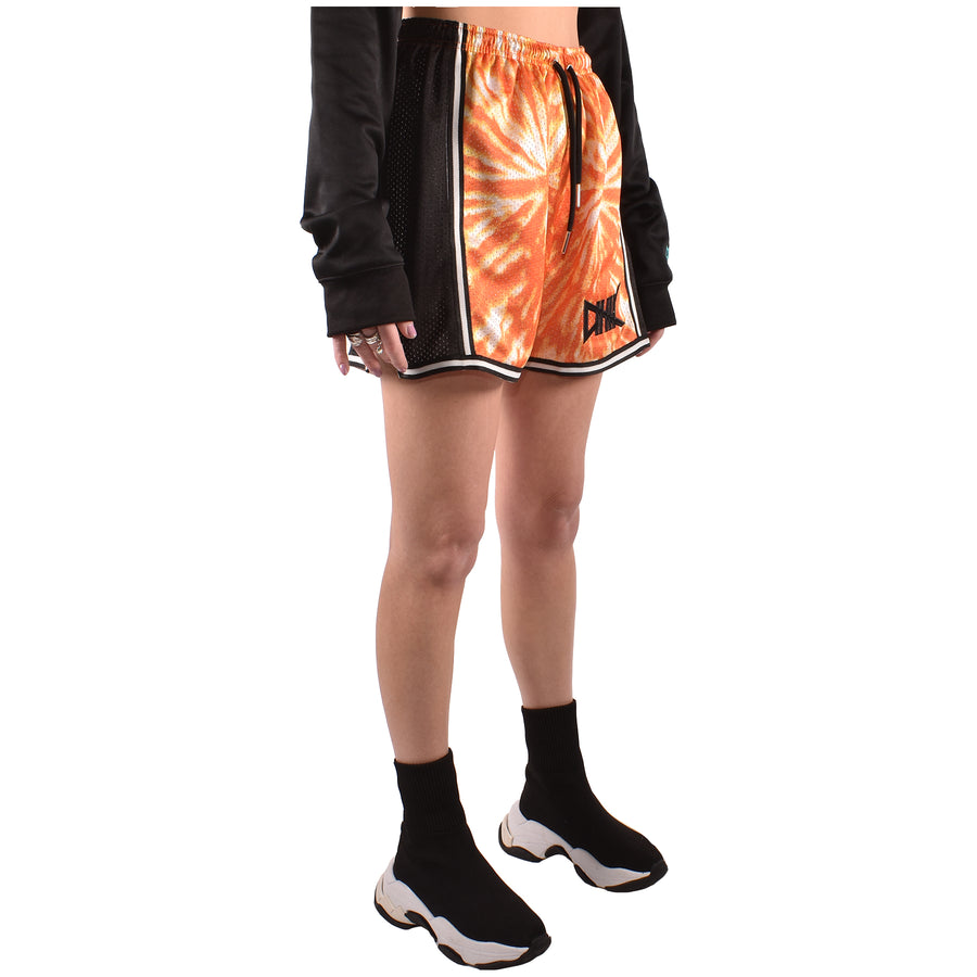 Women's Woodstock Tie-Dye Shorts, Orange