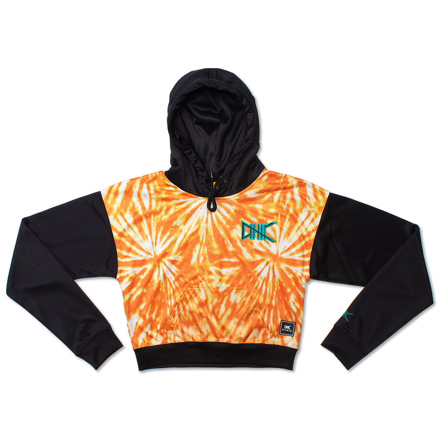 Women's Woodstock Tie-Dye Hoodie, Orange