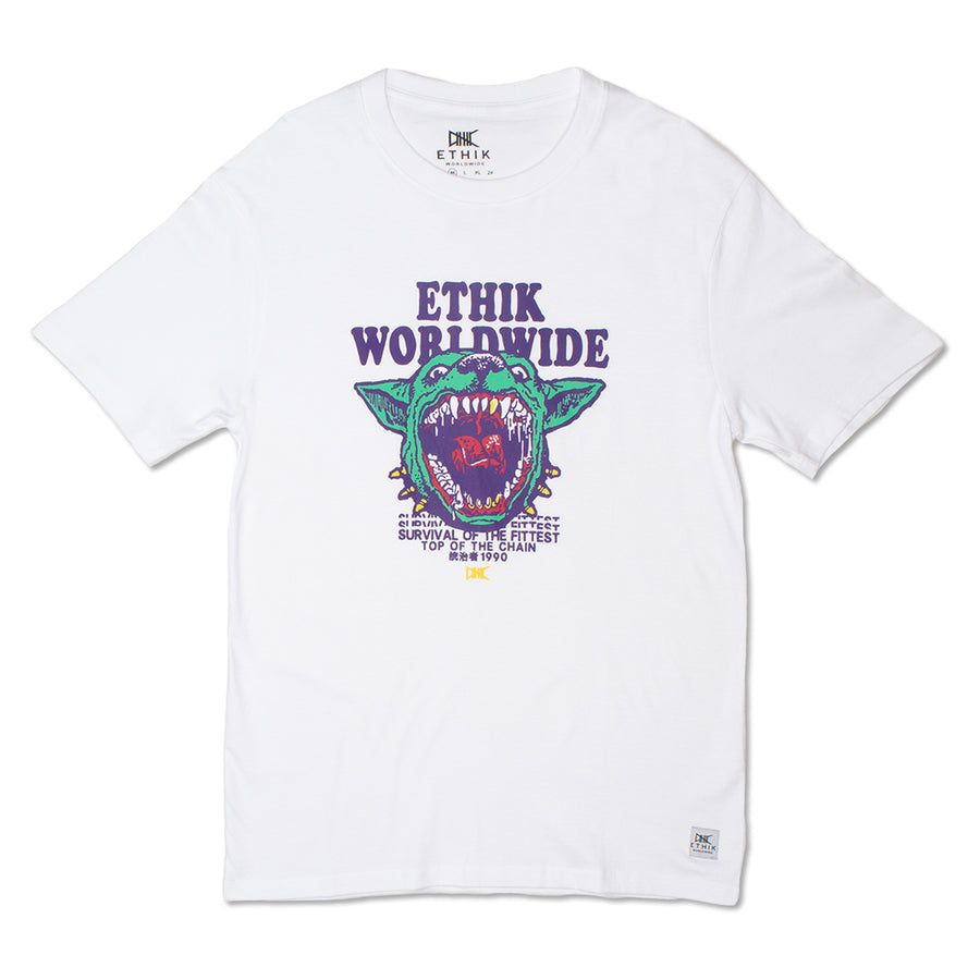 Deranged Pitt Tee, White
