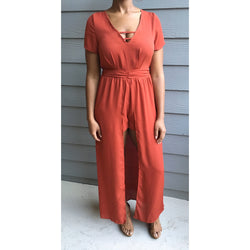 Rust Color Maxi Romper