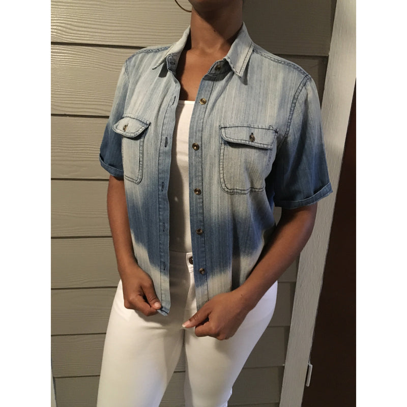 Boyfriend Cut Denim Shirt