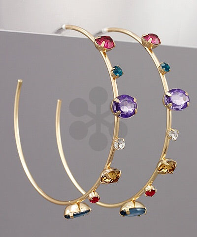 Jeweled Hoop