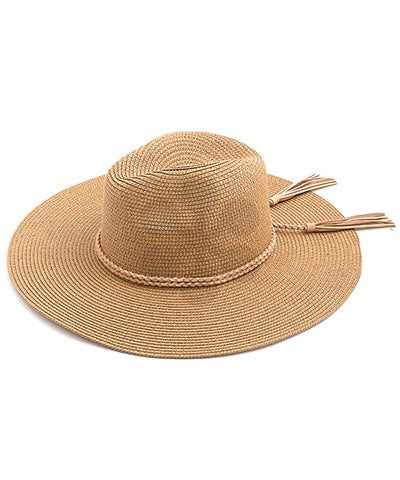 Braided Tassel Tan Sun Hat