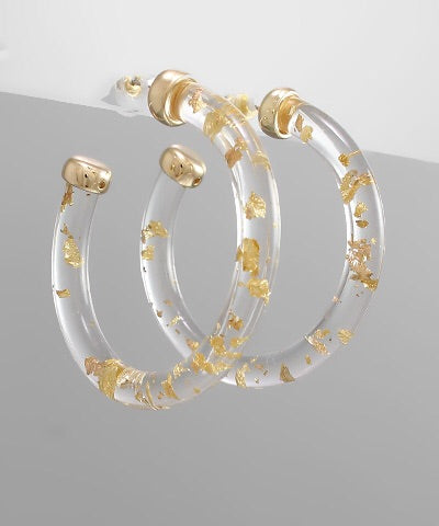 Gold Flake Hoops