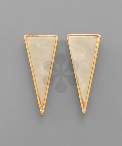 Granite Triangle Earrings