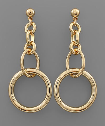 Loop D Loop Gold Earrings