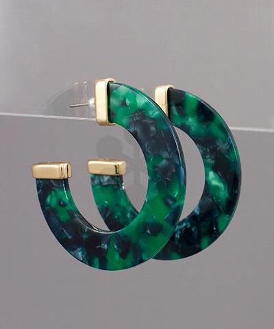 Green hues Hoops