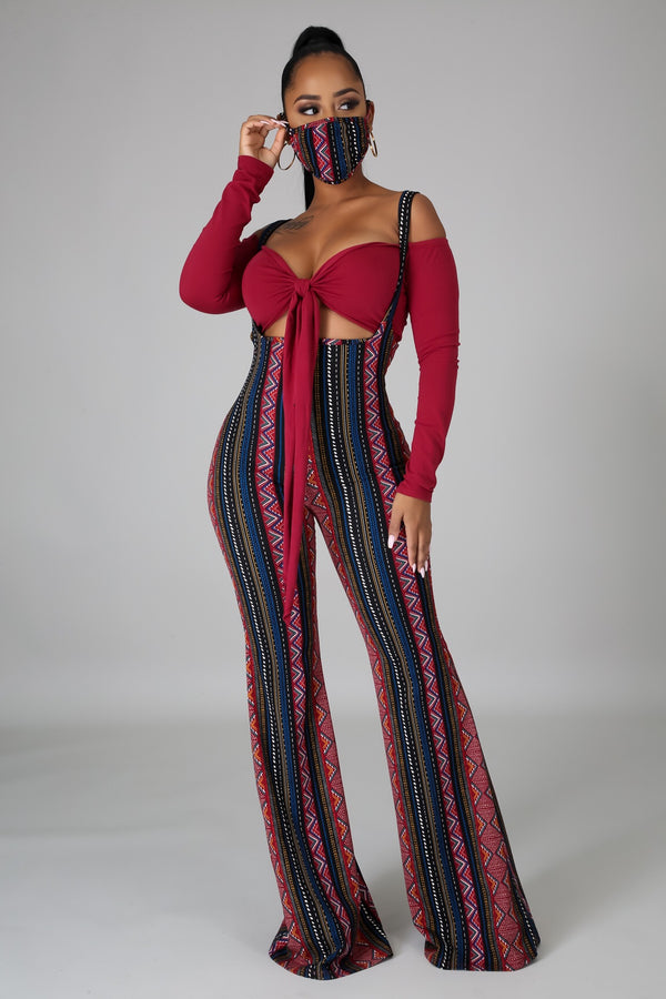Be Mine Jumpsuit Set