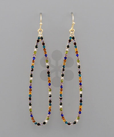 Studded Raindrop Earrings