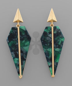 Emerald Green Gold Spear