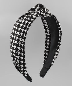 Houndstooth Knot Headband
