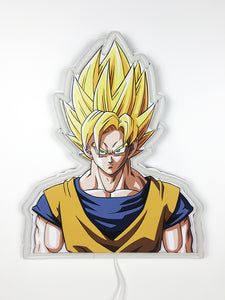 Dragon Ball Z Super Saiyan Goku Neon Wall Lamp
