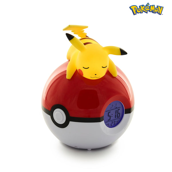 Pokémon Pikachu on Poké ball Luminous Alarm clock and FM radio