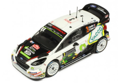 Ford Fiesta WRC- Bouffier- Rally Monte Carlo 2018- 8th- in 1/43 Scale- by IXO- RAM666