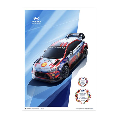 Hyundai Motorsport WRC Manifacturer´s Champions 2019 and 2020 Poster