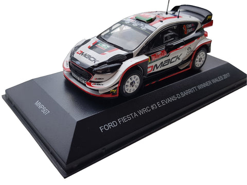Ford Fiesta WRC- Evans- Rally Wales GB 2017- Winner- in 1/43 Scale- by Minipartes/IXO