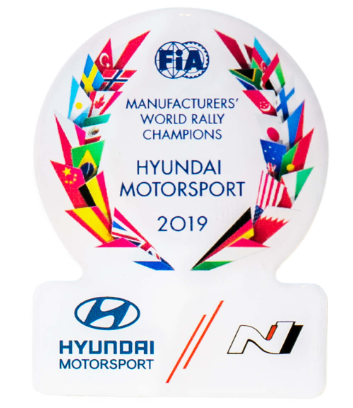 Hyundai Motorsport 2019 Victory Pin Badge