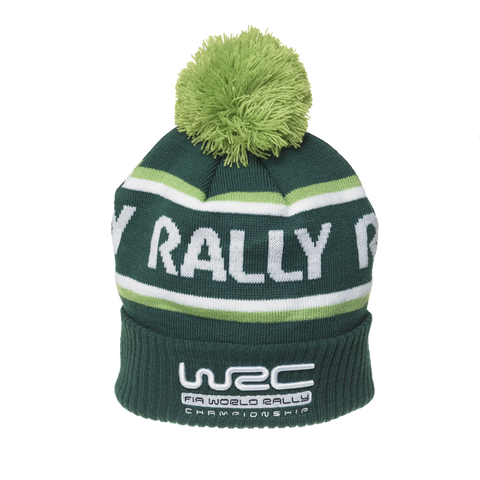 WRC Green Bobble Hat