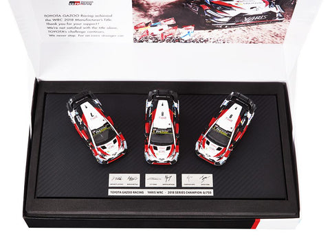 Toyota Gazoo WRT- 2018 Celebration Set of 3 cars- 1/43 Scale by Toyota/Limited Edition