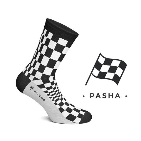 Chequered Flag Style Socks by Heeltread- One Size