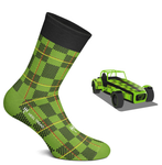 Pack of 4 Motorsport Livery Socks by Heeltread- One Size