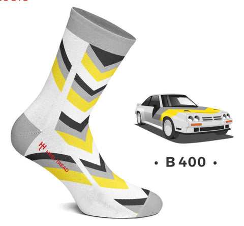 B 400 Opel Manta Style Socks by Heeltread- One Size