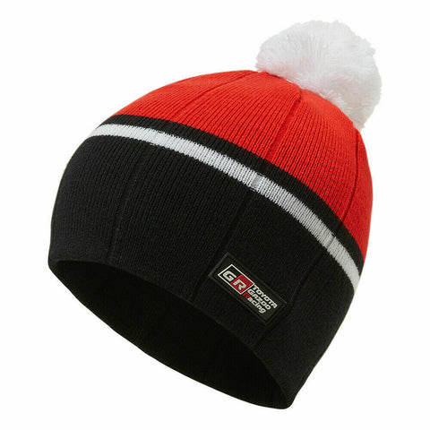 Toyota Gazoo Red/White Ski Hat/Bobble