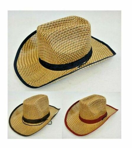 30 PINK Straw Cowboy Hats Cowgirl Womens Western Hat Chin Strap Snaps WHOLESALE
