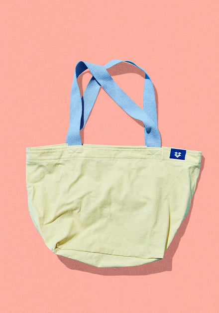 Big Cotton Tote With Contrast Handles