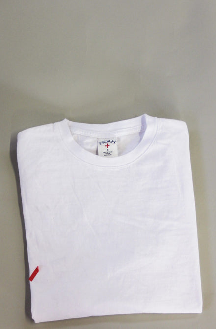 WHITE CLASSIC TRASH TEE, CUSTOM BODY x 86