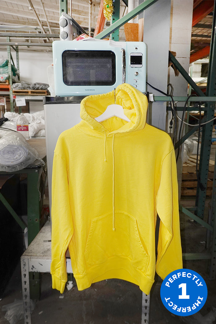 Yellow Cotton Fleece Hoodie