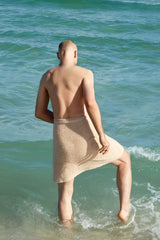 "Felix's ""Nude"" Upcycled Patchwork Beach Blanket"